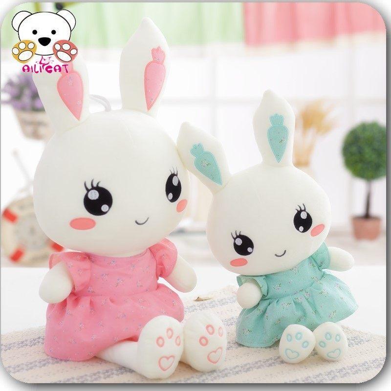 兔子毛具流氓兔小白兔公仔抱枕大布娃娃玩偶布女孩情人节礼物