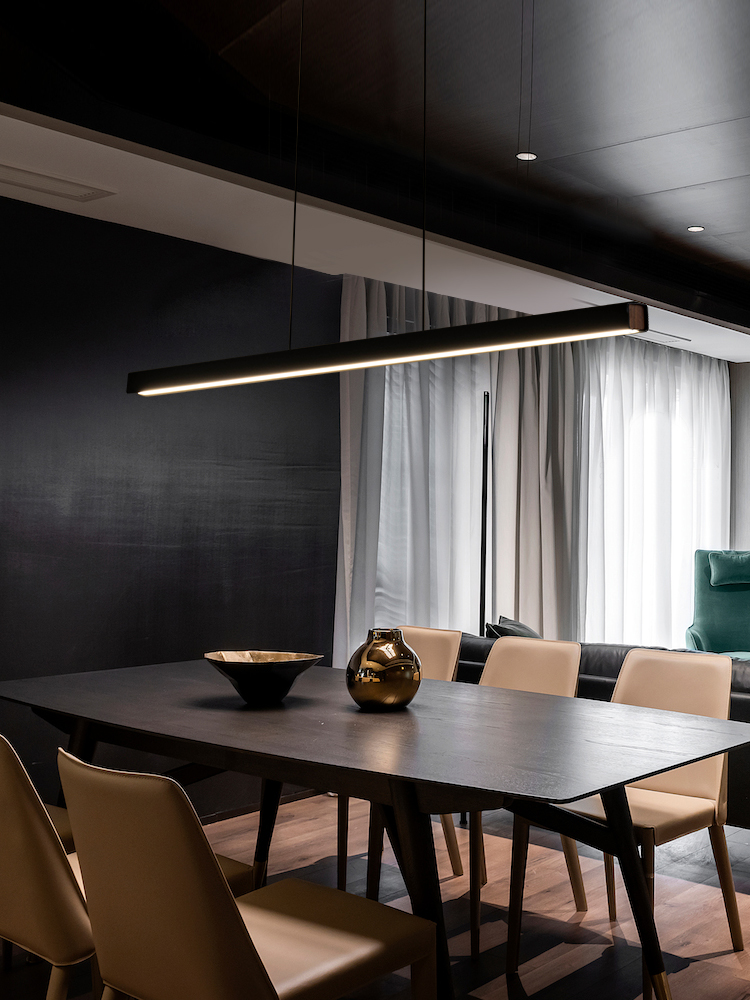 高档长条极简餐厅灯现代简约简约现代办公工作室客厅吧台岛台吊灯
