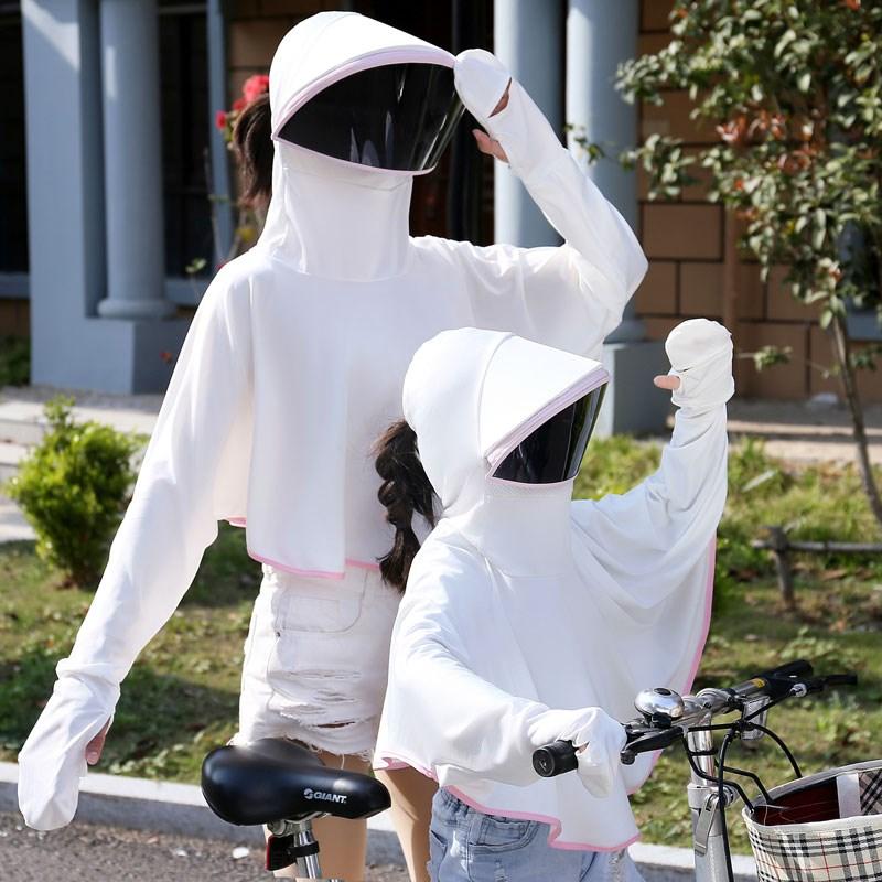 Sunscreen cap female anti ultraviolet face shield children driving ice electric car sunshade cap riding artifact mask in summer