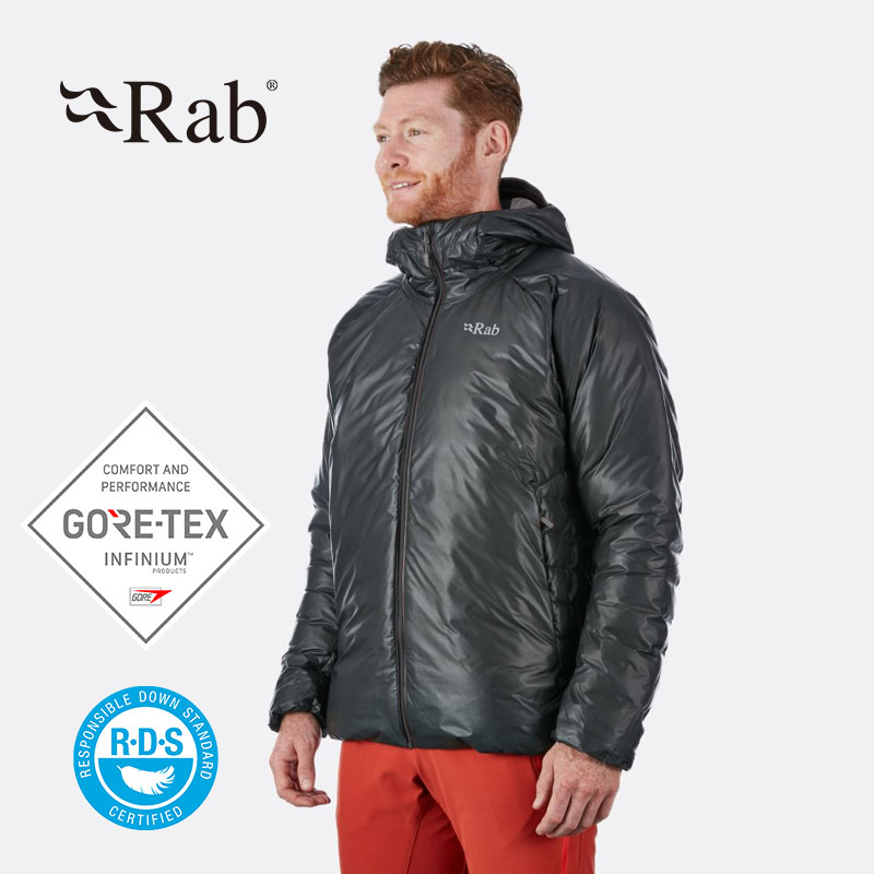 RAB男750篷GORE-TEX欧洲鹅绒羽绒服连帽户外运动保暖130g QDA-99
