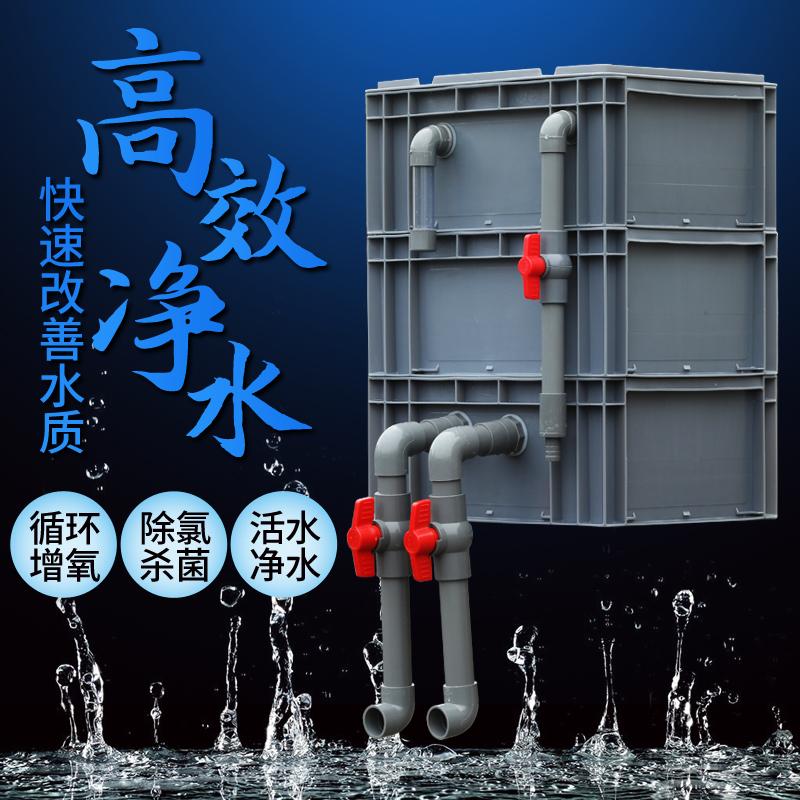 过滤盒庭院鱼池水循环系统上盒鱼缸