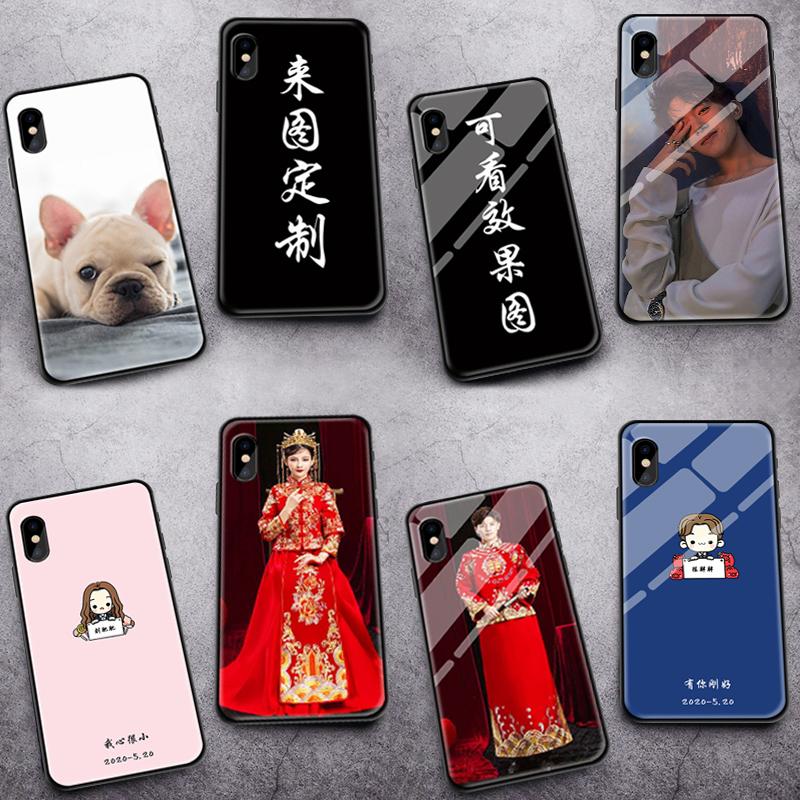 苹果11情侣手机壳定制x任意机型xr硅胶8plus软7玻璃6s型号11promax图案xsmax来图适用于iphone12私人照片diy