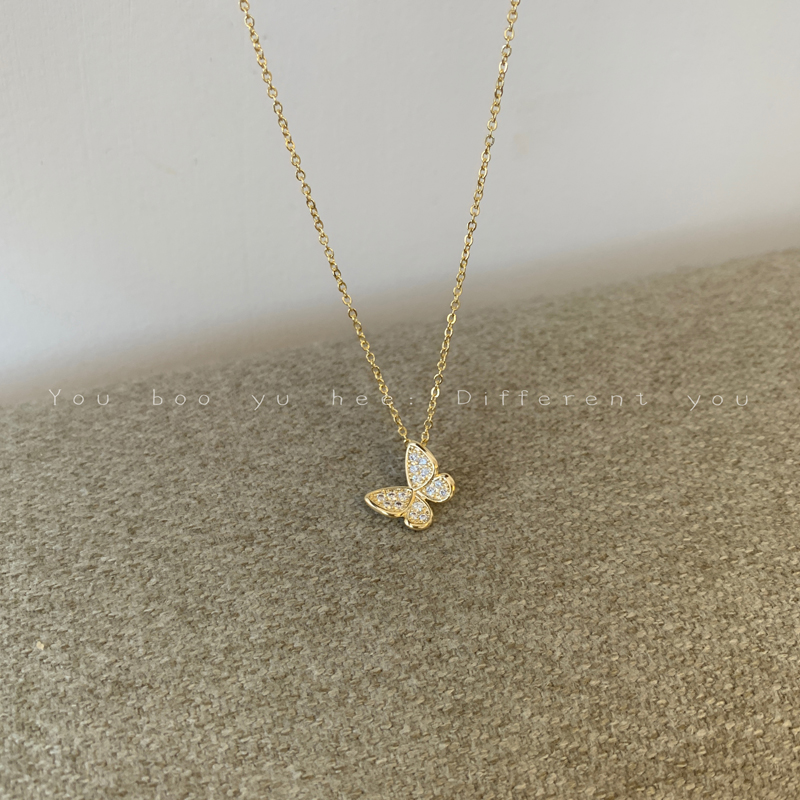 Butterfly Necklace female ins cold wind clavicle chain 2020 new simple temperament neck chain small design sense