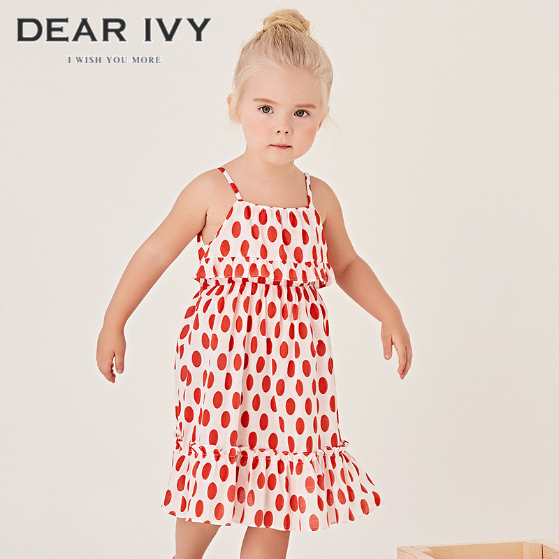 Dearivy / ivy kids 2020 summer new girls sleeveless dress nubao suspender skirt vest skirt