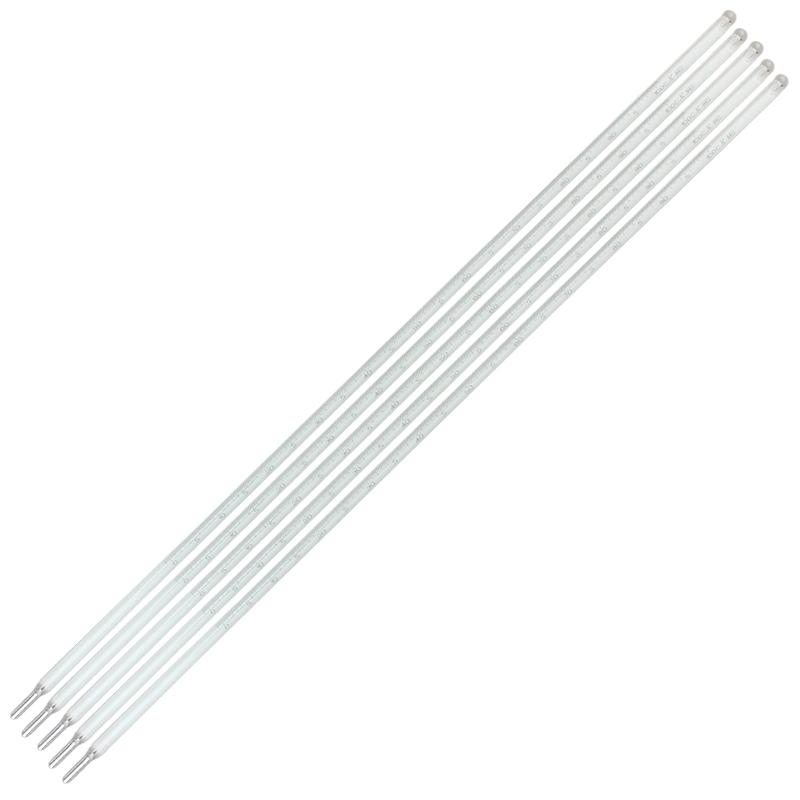 t中兴0-50℃精密温度计全长45cm精度0.1℃实验室用玻璃水银温度计