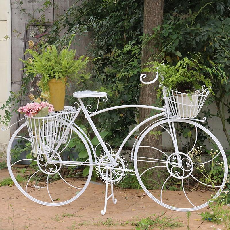 規格品の欧風のアイデアは装飾品の家具の百貨店のショーウィンドウを飾って道具の田園の鉄芸の自転車の花を飾ります。