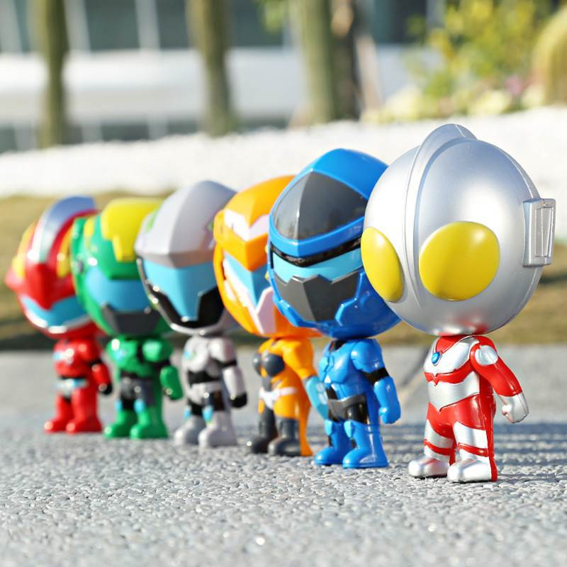 奥特曼变形小男孩玩具哦人偶Q版公仔钢铁飞龙2球球蛋超人盒装礼物