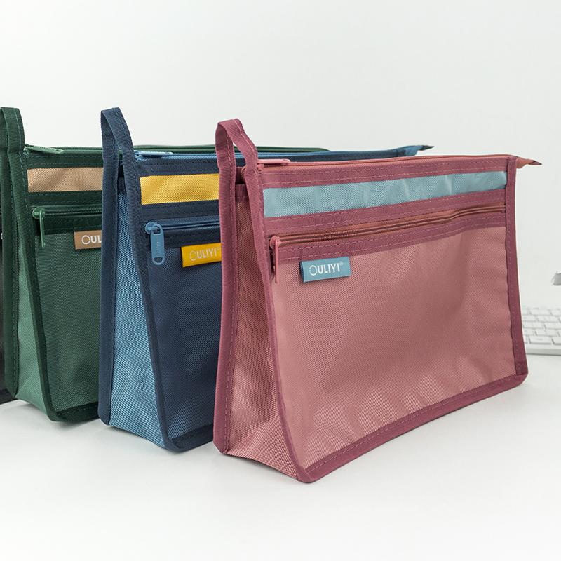欧力益大容量A4多功能双层手提袋
