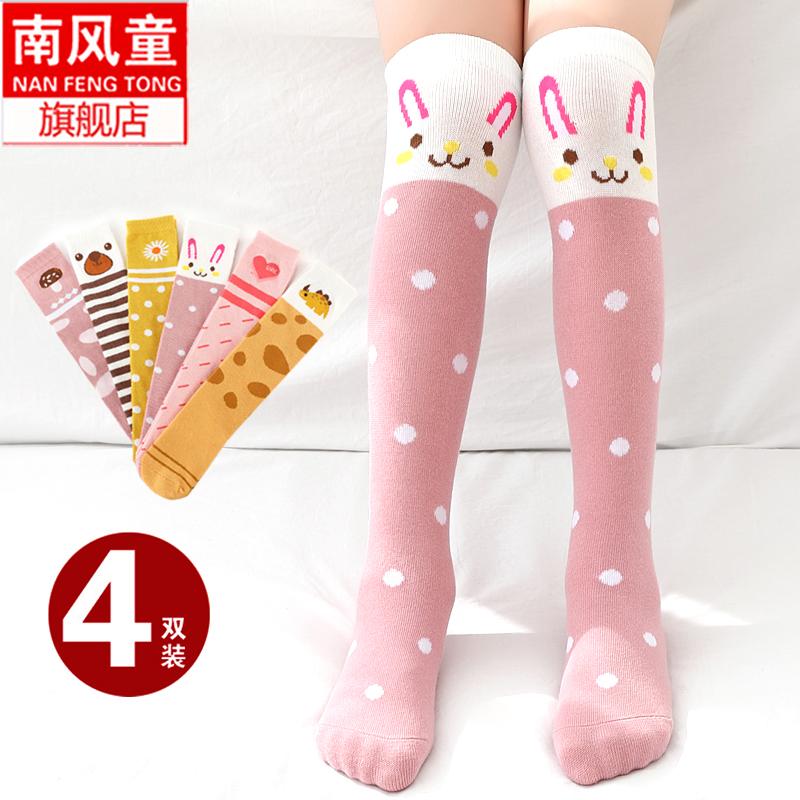 女童春秋款婴儿可爱过膝宝宝袜子