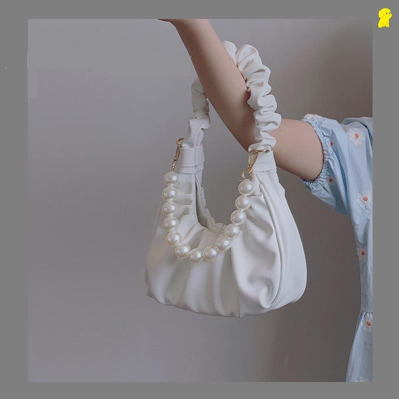 中國代購|中國批發-ibuy99|斜挎包|腋下包褶皱云朵包个性包单肩斜挎包小众质感包包女2021新款手提包
