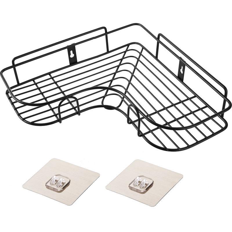 【免打孔无痕】浴室卫生间厨房置物架三角架壁挂厕所洗手间收纳架