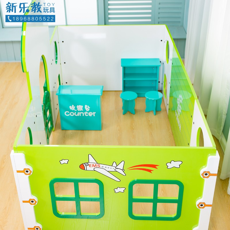 Kindergarten early education childrens play house wooden super large post office professional role-playing prop house