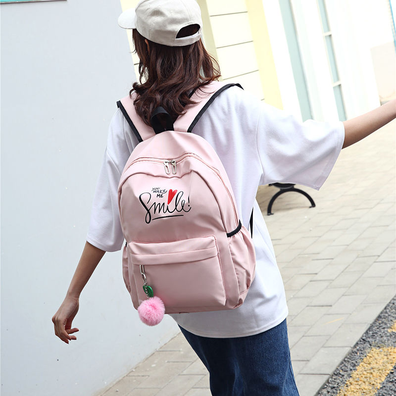 Schoolbag for high school students, waterproof schoolbag for girls, small fresh backpack for middle school students, large capacity Korean version travel bag for primary school students