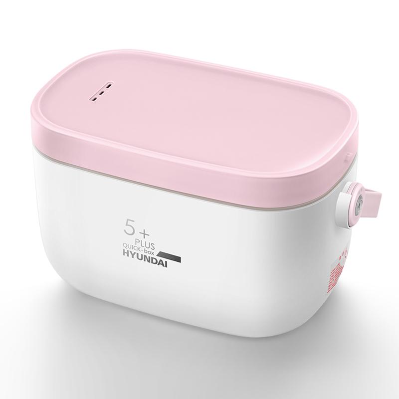 韩国现代电热饭盒保温可插电加热蒸煮饭神器带饭锅上班族便携1人2