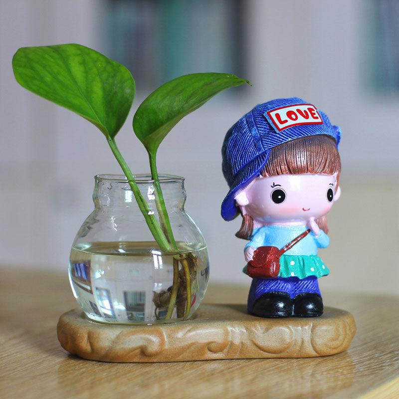 中國代購|中國批發-ibuy99|装饰品|家居客厅装饰品小摆件绿萝水培花瓶水养植物器皿容器鲜花插花盆器