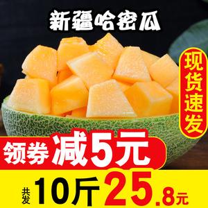 新疆哈密瓜新鲜一箱网纹瓜净重9斤西州蜜瓜脆甜黄河蜜瓜水果包邮