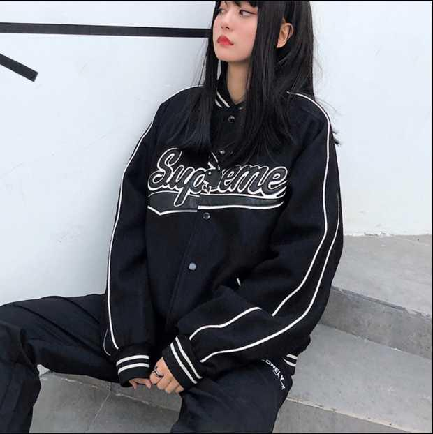 Rabbit head co branded jacket spring and autumn mens and womens large loose Baseball Jacket