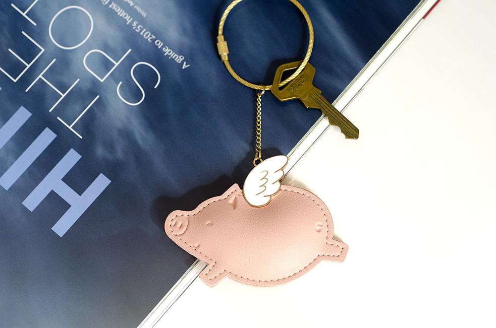 20.00元包邮八门虫社飞猪包挂创意女汽车钥匙扣