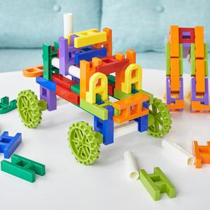 百变巧巧拼搭拼插积木塑料加厚3-6周岁儿童益智建构拼装玩具男孩