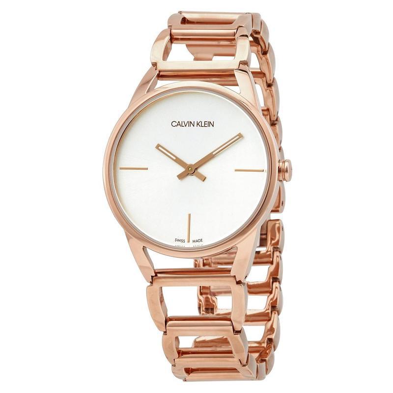 Calvin Klein Kevin Klein CK watch womens transparent Bracelet steel band quartz gold watch k3g23626
