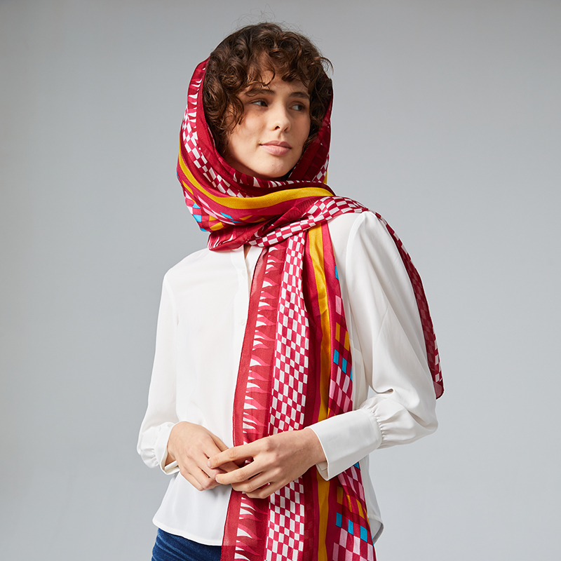 Womens silk scarves 100% Silk sunscreen silk scarves ethnic style oversized shawl thin shawl with sand