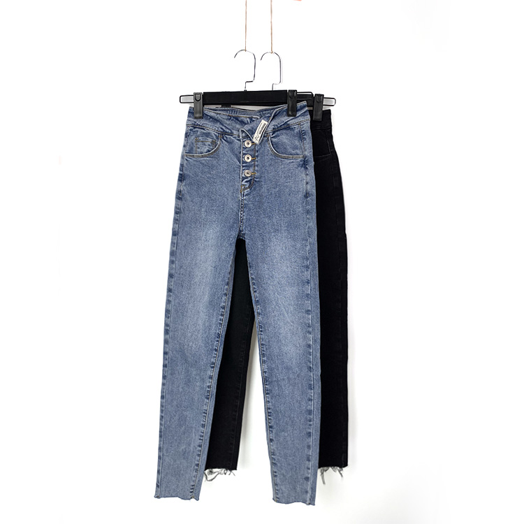 Spring 102139 front button single flannel jeans