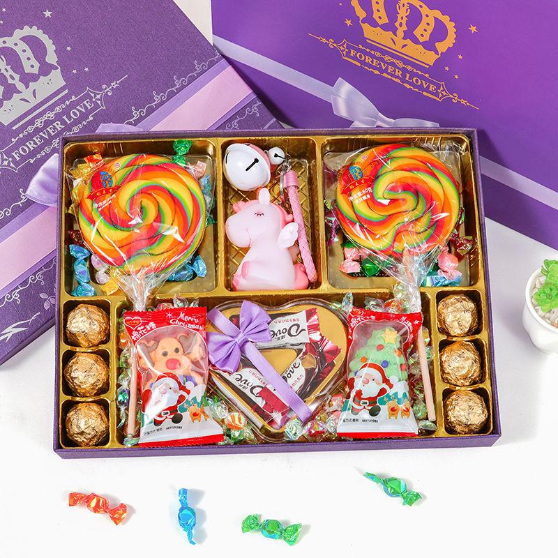 520情人节礼物糖果礼盒装少女心糖果大礼包高颜值棒棒糖生日礼物