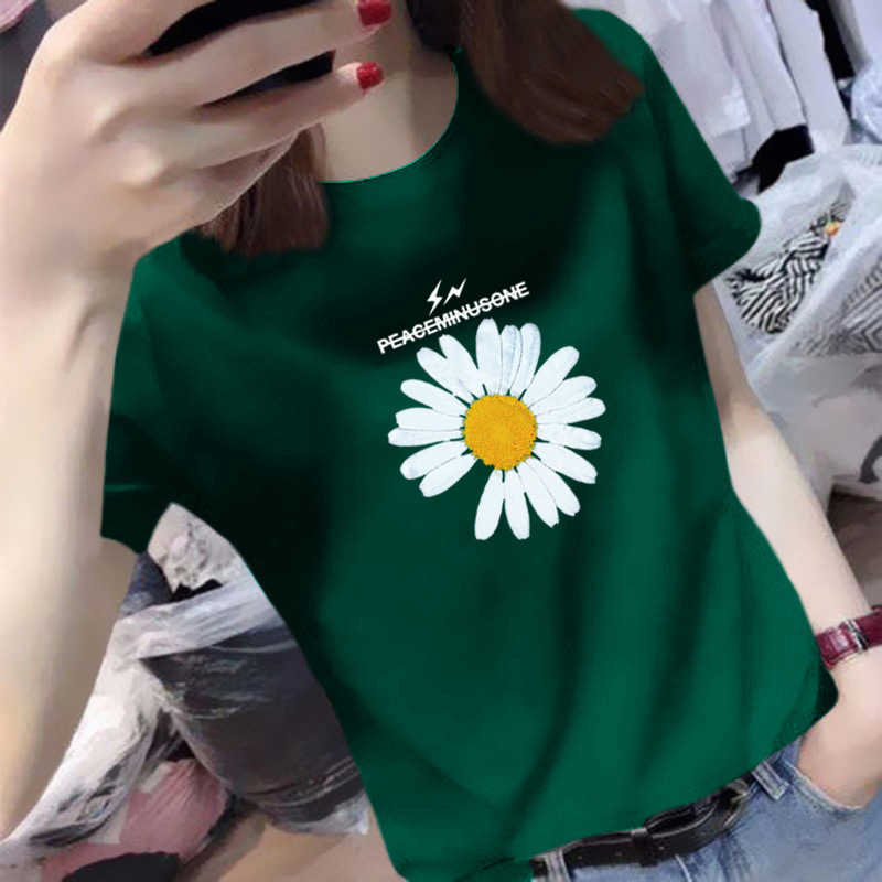 Small daisy short sleeve T-shirt for women 2020 summer new Korean womens slim fit net red ins ultra hot fashion half sleeve top