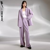 【回力合作款】ONE MORE2020冬装新款西装外套女西服套装韩版宽松