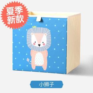 可水洗卡通儿童玩具收3纳箱布艺折叠储物盒整理箱装衣服收纳神器