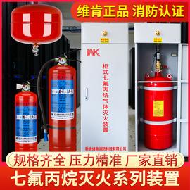 七氟丙烷灭火器自动气体灭火装置悬挂手提式柜式4kg6kg2kg5公斤8k