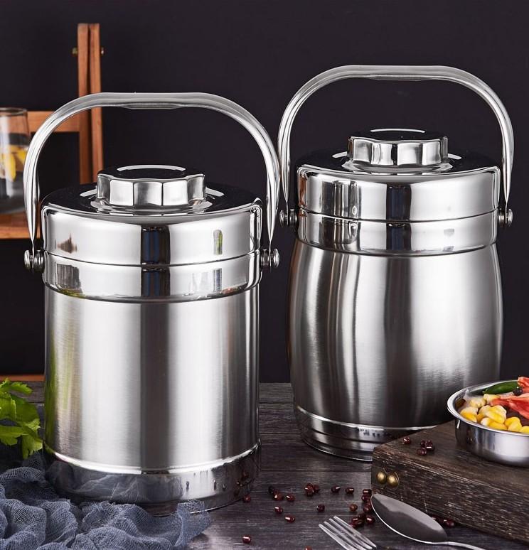 中国用饭盒便携装汤容器外不锈钢保温汤桶加厚家带汤壶上班族饭桶