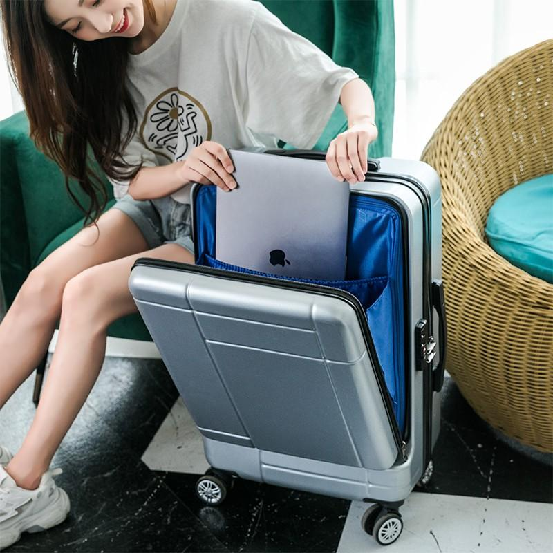Business suitcase side opening computer front opening travel trolley box password box men and women 20