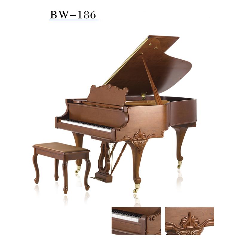 立式专业考级演奏初学者家用真钢琴186BW卡尔蒂姆钢琴KARLBOBM