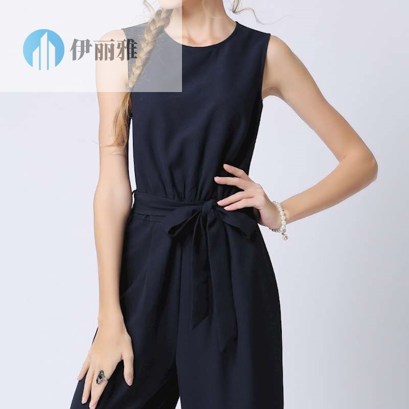 Oversized tooling one piece suit womens sleeveless one piece pant summer pant 2020 spring one piece Pant