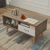 实木茶几茶桌电视柜组合现代简约客厅迷你简易小户型圆角环保