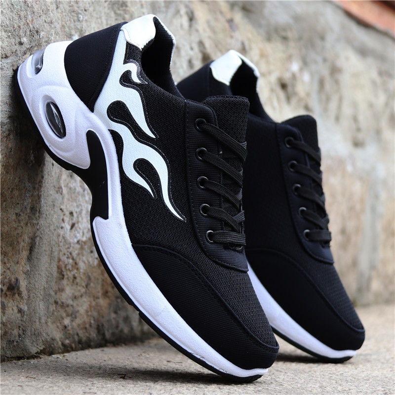 Spring and autumn mens mesh shoes breathable mens shoes sports casual shoes trend board shoes student running shoes