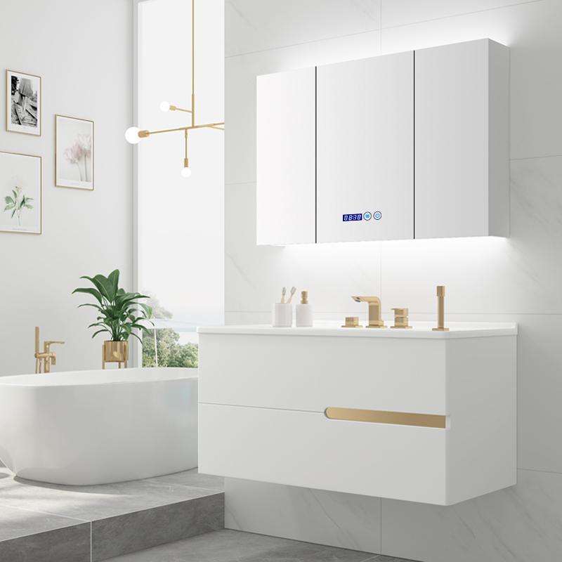 现代轻奢柜组合卫生间浴室柜