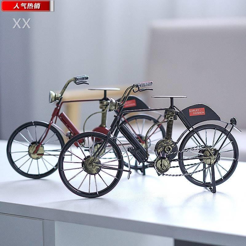 L北欧艺风创意家居饰品自行车摆件桌面玄关酒柜装饰品室内摆设工