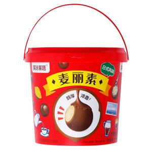 领10元券购买莱咔莱嗒麦丽素桶装520g巧克力豆童年回忆夹心小零食(代可可脂)