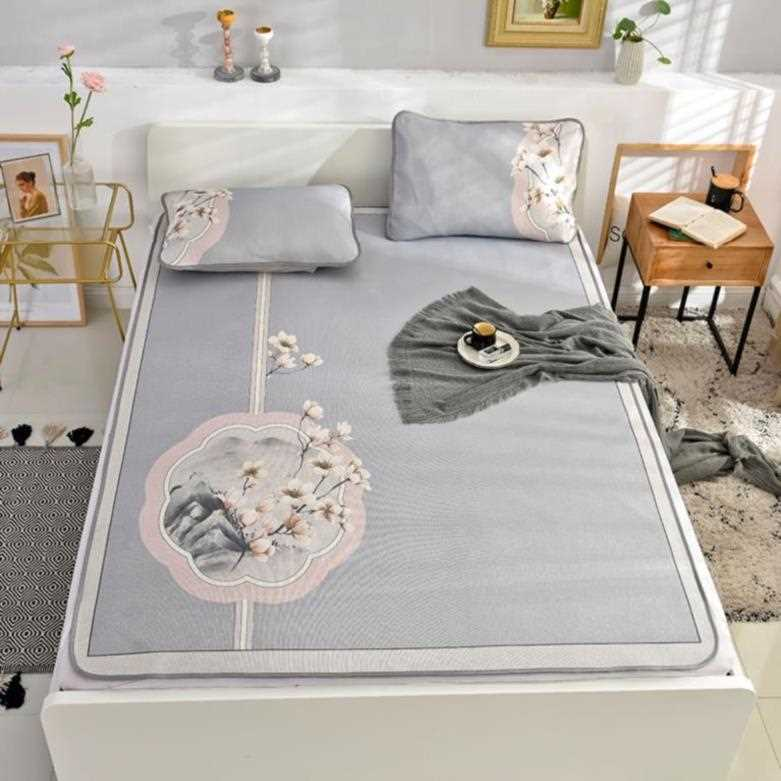 New one-piece suit bedding mat Baby Set ventilated floor mat double bed fitted sheet dormitory single k-bed summer