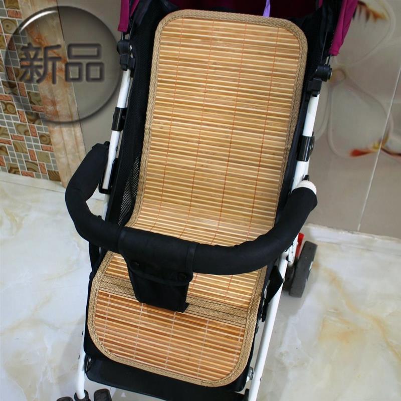童车席草席新生婴儿车凉席垫通用夏季j竹藤午睡新生儿童床安全垫