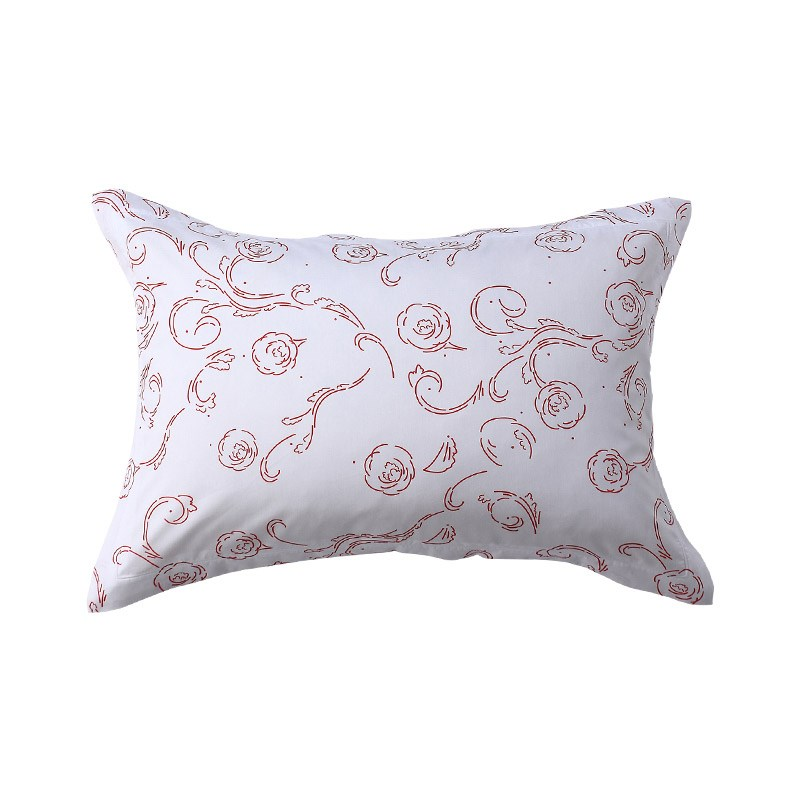 Lencier a pair of floral cotton printed pillowcases from the ocean