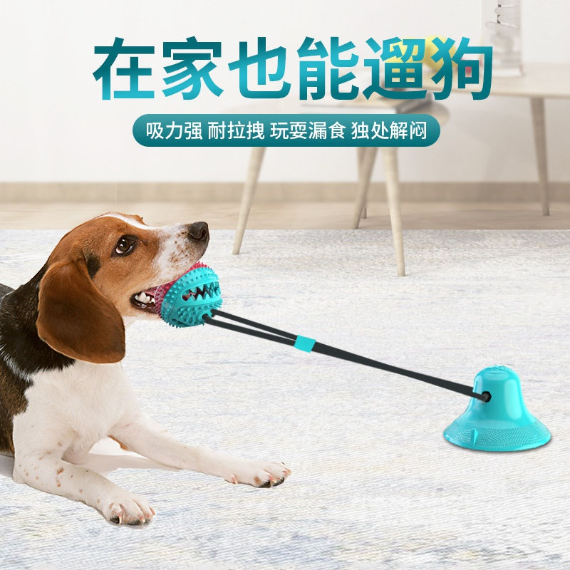 。 Pet toy suction cup inner voice voice toy molar leakage feeding device chewable ball puzzle cat and dog universal play