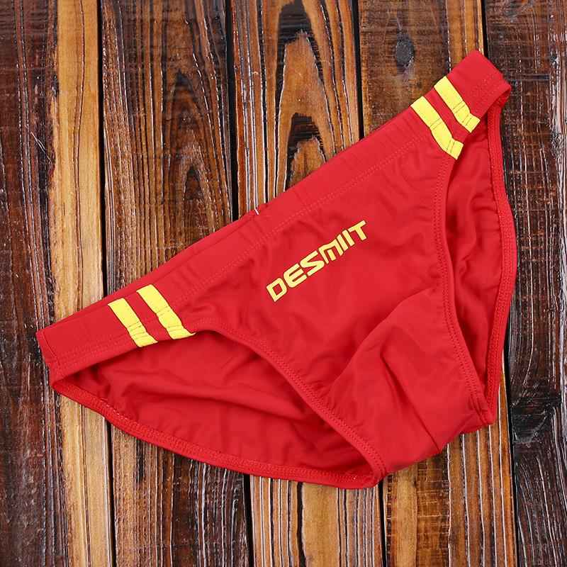 Triangle swimming trunks seaside Sexy Professional low waist boys swimsuit racing beach large size quick drying hot spring swimming trunks
