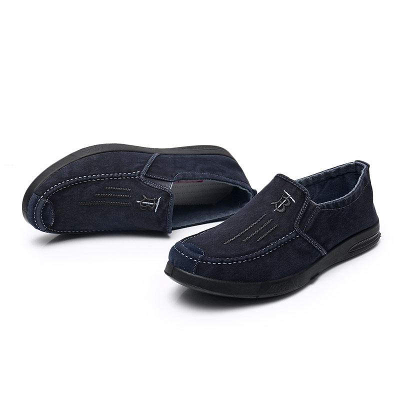 春秋新款时尚百搭男单鞋舒适帆布鞋