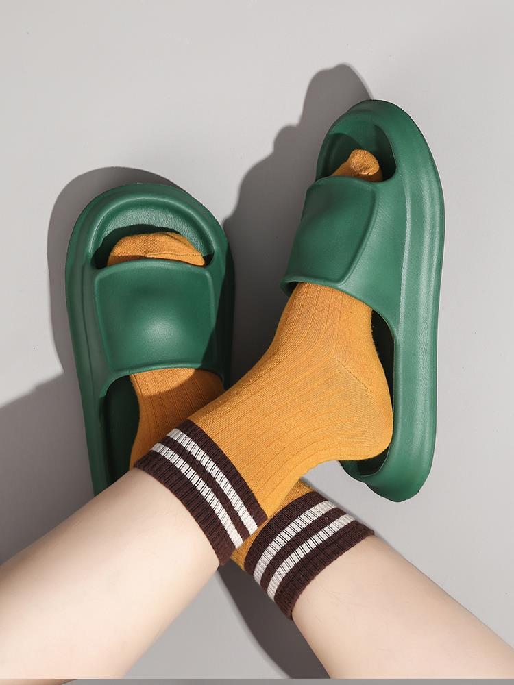 暖之缘踩屎感拖鞋女夏季居家室内情侣浴室防滑加厚软底外穿凉拖男