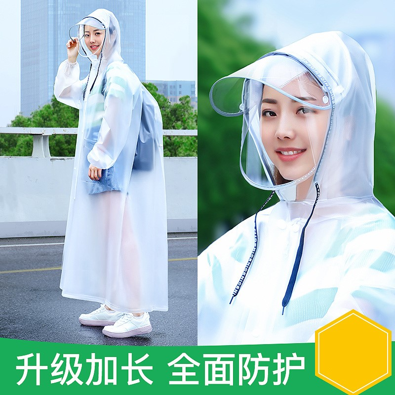 Raincoat womens coat long full body rain proof one-piece fashion single thickened mens outdoor hiking disposable