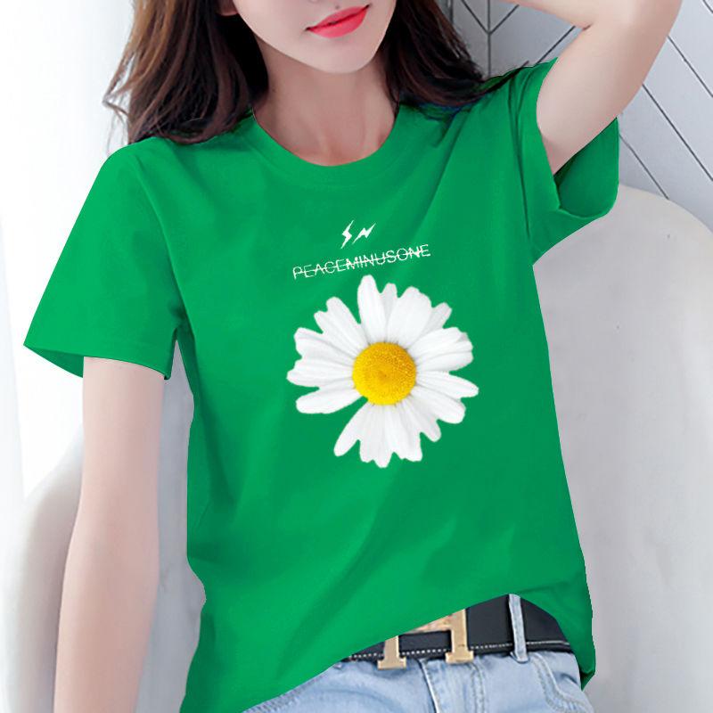 新款2020ins潮夏季韩版学生宽松白色短袖t恤女装大码上衣打底衫女