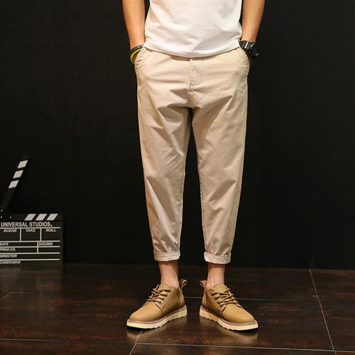 。 9-point Harem Pants mens summer thin Japanese tapered small foot casual pants loose large fat 8-point pants